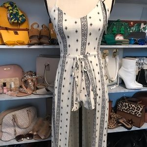 Romper with maxi skirt